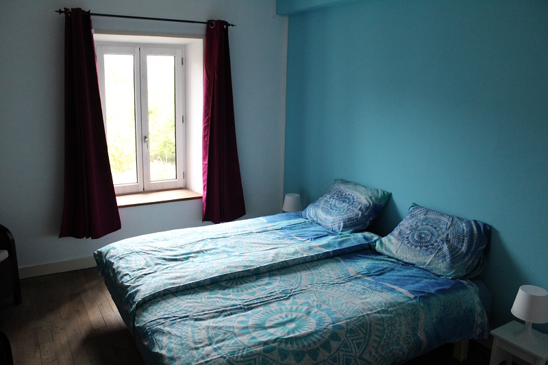 one of the rooms is blue